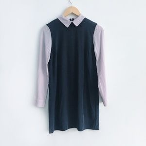 Club Monaco Silk colour block Dress - size 0